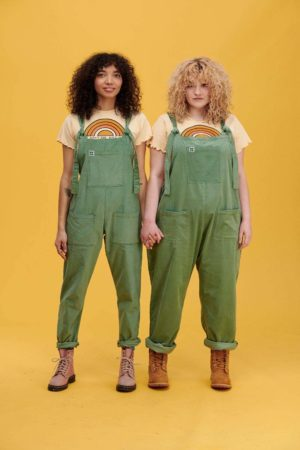 The Sundaze Collection – The Organic Original Corduroy Dungarees in Green Bay